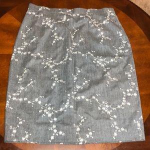 Escada 100% Wool Pencil Skirt Size 42 (US Size 12)